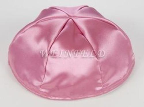 Satin Yarmulkes 6 Panels - Lined - Single Color - Mauve Pink. Best Quality Bridal Satin