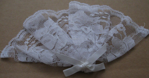 Womans Lace - Mini Size With Bow And Comb - White