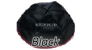 BLACK Satin Yarmulkes - With Colored Rim