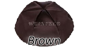 BROWN Satin Yarmulkes - With Colored Rim
