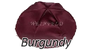 BURGUNDY Satin Yarmulkes - With Colored Rim