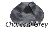 CHARCOAL GREY Satin Yarmulkes - With Colored Rim