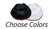 CHOOSE COLORS Satin Yarmulkes - With Colored Rim