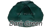 DARK GREEN Satin Yarmulkes - With Colored Rim