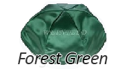 FOREST GREEN Satin Yarmulkes - With Colored Rim