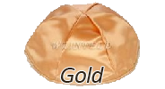 GOLD Satin Yarmulkes - With Colored Rim