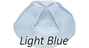 LIGHT BLUE Satin Yarmulkes - With Colored Rim