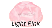 LIGHT PINK Satin Yarmulkes - With Colored Rim