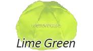 LIME GREEN Satin Yarmulkes - With Colored Rim