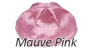 MAUVE PINK Satin Yarmulkes - With Colored Rim