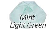 MINT LIGHT GREEN Satin Yarmulkes - With Colored Rim