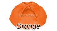 ORANGE Satin Yarmulkes - With Colored Rim