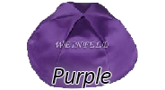 PURPLE Satin Yarmulkes - With Colored Rim