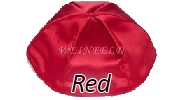 RED Satin Yarmulkes - With Colored Rim