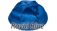 ROYAL BLUE Satin Yarmulkes - With Colored Rim