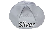 SILVER Satin Yarmulkes - With Colored Rim