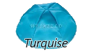 TURQUISE Satin Yarmulkes - With Colored Rim