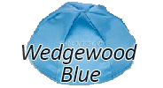 WEDGEWOOD BLUE Satin Yarmulkes - With Colored Rim