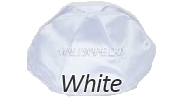 WHITE Satin Yarmulkes - With Colored Rim