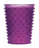 No. 58 Plum Hobnail Glass Candle
