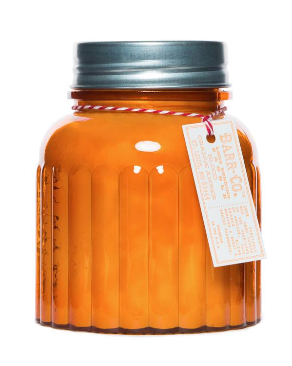 Blood Orange Amber Apothecary Jar Candle K Hall Studio
