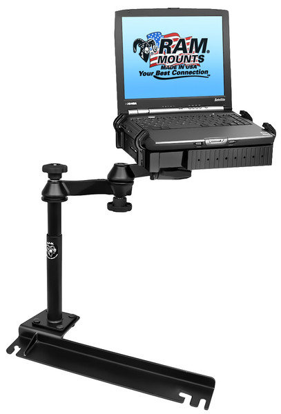 No-Drill™ Laptop Mount for the Chrysler Town & Country, Dodge Grand Caravan & Ford Transit Connect