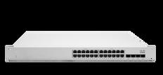 Meraki MS225-24P L2 Stck Cld-Mngd 24x GigE 370W PoE Switch