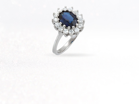 September's birthstone is Sapphire