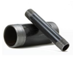 Black Carbon Steel Pipe Nipples