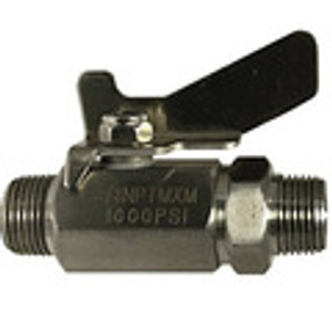 Male x Male Mini Ball Valves Butterfly Handle