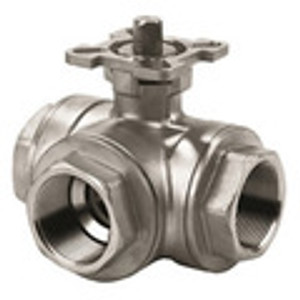 3 Way T Port Ball Valves 1000WOG