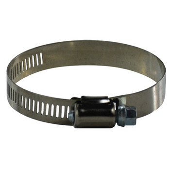 #10 Worm Gear Hose Clamp, 1/2 Wide Band, 611 Series Stainless Steel