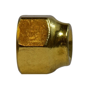 5/16 in. Female x 1/4 in. OD, Forged Reducing Nut, SAE 45 Degree Flare Brass Fitting