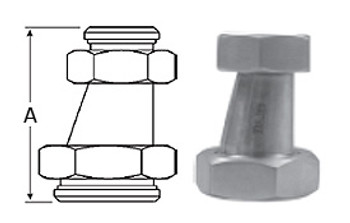 2 in. x 1 in. 32-14F Eccentric Taper Reducer (3A) 304 Stainless Steel Sanitary Fitting