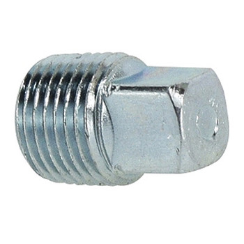 1/4 in. Square Head Plug Steel Pipe Fitting Hydraulic Adapter