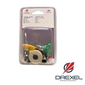 Size: 5.0 Quick Disconnect Nozzle 5 Piece Kit, Drexel Pressure