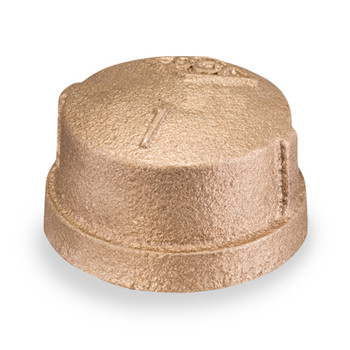 1/2 in. Threaded NPT Cap, 125 PSI, Lead Free Brass Pipe Fitting