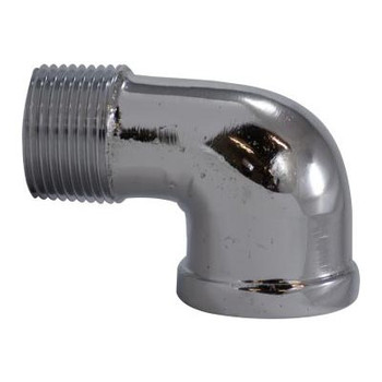 1/2 in. 90 Degree Street Elbow, Chrome Plated Lead Free Brass Pipe Fitting, AB 1953