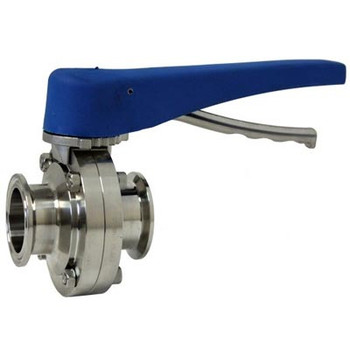 2 in. Tri-Clamp Butterfly Valve, Squeeze Trigger, 304 Stainless Steel, ALL Stainless Steel