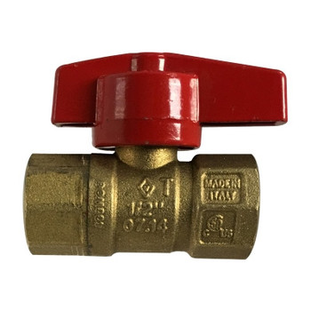 1/2 in. IPS CSA Gas Ball Valve, Female X Female, Forged Brass Body, Made in Italy