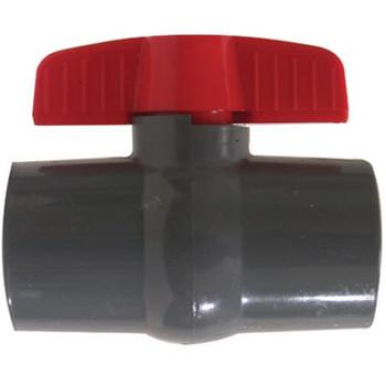 1-1/2 in. Slip x Slip, Grey Socket PVC Ball Valve, Leak-Tight Shut-Off, Schedule 80