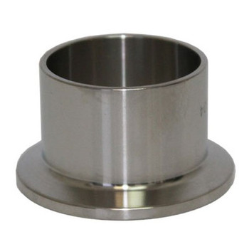 2 in. Tri Clamp Ferrule, Long, 304 Stainless Steel, Sanitary TriClamp/TriClover, HomeBrew & Brew Fittings