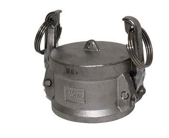 1-1/4 in. Dust Cap 316 Stainless Steel Female End Coupler
