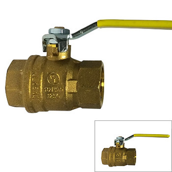 "3/8"" 600 WOG, CSA Full Port Italian Ball Valve, Reversible Handle"