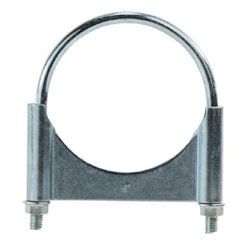 4-1/2 in. Guillotine Style U-Bolt Muffler Hose Clamps, Zinc Plated Carbon Steel Corrosion Resistant, Complete 360 Deg. Heavy Duty Seal