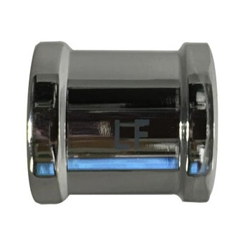 3/8 in. Coupling Chrome Plated Lead Free Brass Pipe Fitting, AB 1953