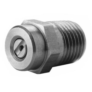 15 Degree Meg Pressure Washer Nozzle, 7250 PSI, Stainless Steel, 1/4 in. MNPT, Size Opening: 4.0