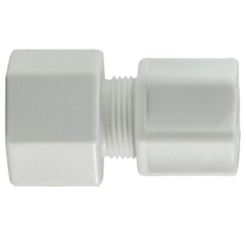 1/4 in. x 1/8 in. Compression x FIP, Polypropylene Compression Female Connector, FDA & NSF Listed