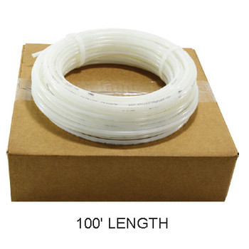 1/4 in. OD Linear Low Density Polyethylene Tubing (LLDPE), Natural Poly, 100 Foot Length, Working Pressure: 150