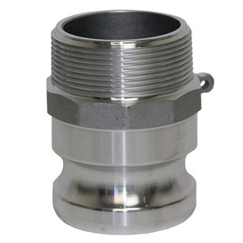 1/2 in. Type F Adapter Aluminum Male Adapter x Male NPT Thread, Cam & Groove/Camlock Fitting